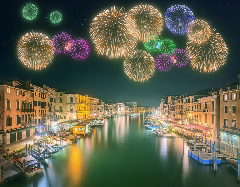 Palazzo Venart Luxury 5 star hotel romatic New Years celebration in Venice