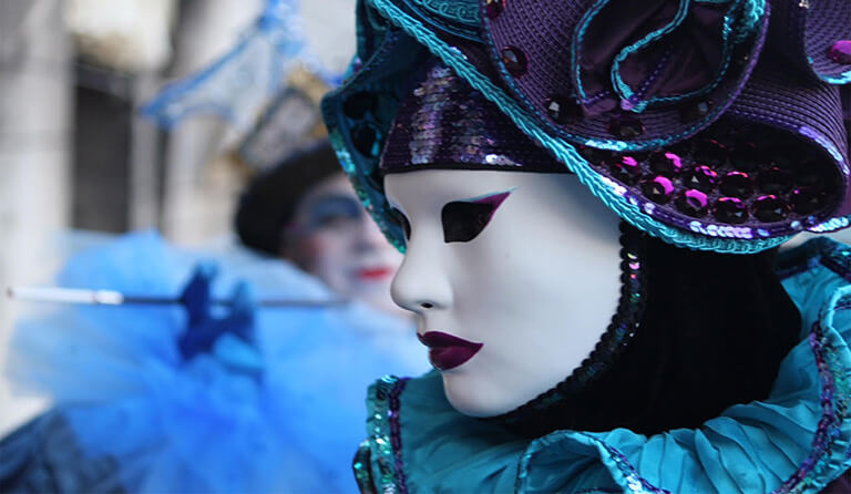 Venice Carnival at the Grand Canal in Palazzo Venart